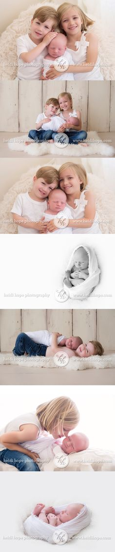 simple and timeless newborn portraits with siblings.  #newborn #siblings #poses