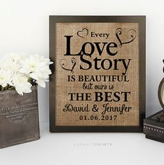 Hey, I found this really awesome Etsy listing at https://www.etsy.com/ca/listing/269301667/love-story-wedding-gift-anniversary-gift