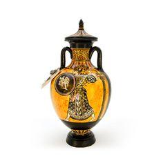 Panathenaic amphora - dadart Greek Pottery, Black Figure, The Inventors, Mythical Creatures, Red Color, Period, Vase, Magical Creatures, Mythological Creatures