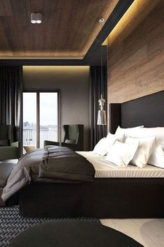 Modern Bedroom Ideas - Trying to find the best bedroom design ideas? Make use of these lovely modern bedroom ideas as ideas for your own wonderful designing scheme . Modern Bedroom Design, Master Bedroom Design, Contemporary Bedroom, Bedroom Designs, Bed Designs, Modern Mens Bedroom, Small Modern Bedroom, Hotel Bedroom Design, Bedroom Simple