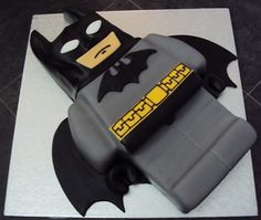 Lego Batman Cake by clvmoore on DeviantArt - Backen Lego Batman Birthday Cake, Lego Batman Cakes, Lego Batman Party, Lego Birthday Party, Lego Cake, Superhero Cake, 4th Birthday, Birthday Ideas, Bolo Lego
