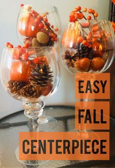 Simple Centerpieces, Wedding Centerpieces, Coffee Table Centerpieces, Wedding Decorations, Dollar Store Crafts, Deco Table, Fall Home Decor, Fall Table Decor Diy, Thanksgiving Decorations