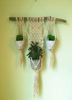 Hey, I found this really awesome Etsy listing at https://www.etsy.com/listing/264312697/macrame-wall-plant-hanger