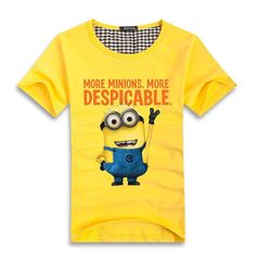 Free-shipping-2015-Minions-Couple-T-Shirt-Lovers-clothes-Women-s-Men-s-Cartoon-short-sleeve1