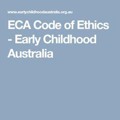 Code Of Ethics Brochure  Early Childhood Early Childhood