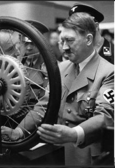 February 18, 1939. Adolf Hitler in Berlin at the International Auto Show.