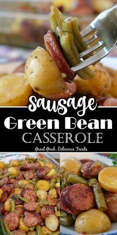 Sausage Recipes, Pork Recipes, Crockpot Recipes, Cooking Recipes, Healthy Recipes, Easy Casserole Recipes, Casserole Dishes, Sausage Potato Casserole, Hamburger Casserole