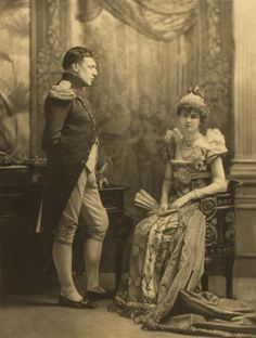 The Emperor Napoleon and Josephine as played by Sir Charles and Lady Hartopp.