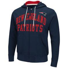 """New England #Patriots #NFL G-iii """"pass Attempt"""" Full Zip Hooded Men's Sweatshirt…"""