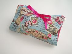 Make Up Bag Shabby Chic Brushes Pocket Parisien Print by olganna, £12.00
