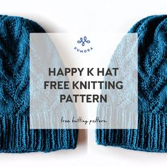 free hat knitting pattern: Happy K - Pumora - all about hand embroidery Knitting Designs, Knitting Patterns Free, Free Knitting, Free Pattern, Embroidery Patterns, Hand Embroidery, Slouchy Hat, Knitting Needles, Knitted Hats