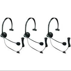 I'm learning all about Panasonic KX-TCA60 Over The Head Headset W/ Noise-Canceling Microphone 3 Pack at @Influenster!
