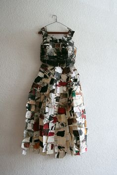 "Inspiration for ""Art of Trash"" fashion: Paper Dress Prettiness ℘ art dress made of paper"