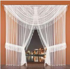 Firanka gotowa Elsa biała 500 x 250 cm Net Curtains, Design, Home Decor, Polyvore, Blinds, Smart Kitchen, Insulated Curtains, Homemade Home Decor, Sheer Curtains