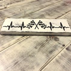 Items similar to Checkered Flag, Racing EKG, racing heartbeat Size) on Etsy