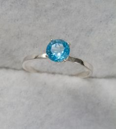 Swiss Blue Topaz Sterling Stacking Ring $42.95