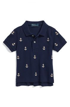 Ralph Lauren Anchor Embroidered Polo (Baby Boys)