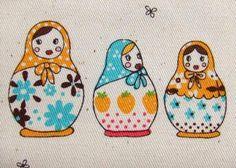 matryoshka print fabric