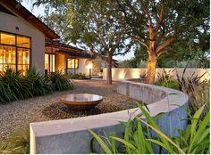 curvacous wall and water bowl. bernard trainor
