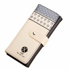 New EXO  Purse Clutch Button Wallet Bag Handbag Women Wallets Female Case Phone Carteiras Femininas Money Bag Purse Card Holder #women, #men, #hats, #watches, #belts