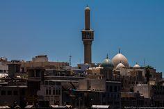 One of the many minarets that line the skyline near the Dubai Creek.
