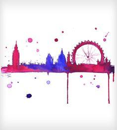 London Baby Watercolor Print