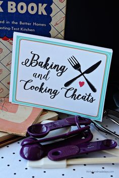 Printable Baking and Cooking Cheats- free cards full of information | Thirty Handmade Days