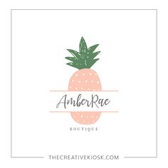 Cute Pineapple Logo. Instant Download Logo. DIY Logo Design. Watermark Logo. Business Branding. Logo Template. PSD Photoshop File. #0599.