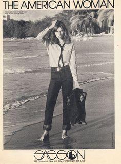 american vogue – Couture et Cuisine 70s Fashion, Korean Fashion, Vintage Fashion, Fashion History, American Women, American Girl, Patti Hansen, Book Girl, Couture