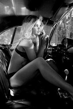 pinup-hotrod:Hotrod Pinup   #stockings #model #ratrod #corset
