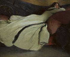 John White Alexander / Repose / 1895 / oil on canvas