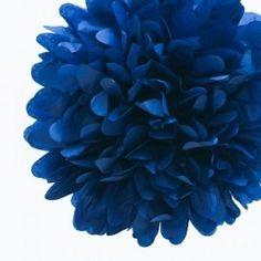 Pompoms donkerblauw 20, 35 of 50 cm.