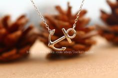 Etsy listing at http://www.etsy.com/listing/153897483/new-jewelry-sideways-anchor-necklace