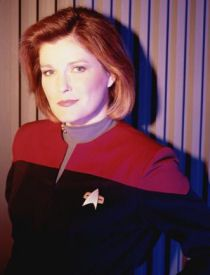 Captain Janeway of Star Trek Voyager! Admired how she had power over the mostly male crew.