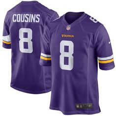1f3310f309f Men s Minnesota Vikings Kirk Cousins Nike Purple Game Jersey