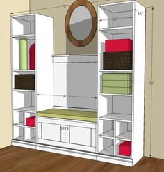 I want to make this!  DIY Furniture Plan from Ana-White.com  Inspired by the cutest mudroom from Better Homes and Gardens, make your own from scratch with this free , step by step DIY tutorial.