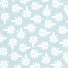 Leaves Hill 3 - light blue - More Cotton Fabrics - Decorator Fabrics Plants - Notting Hill - myfabrics.co.uk