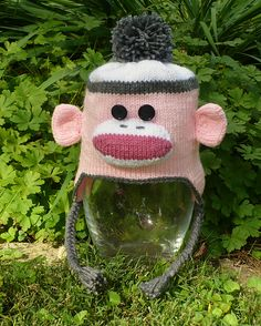 f4ad99b20c3 Sock Monkey Ear Flap Hats for the Whole Family pattern by Nicole Montgomery