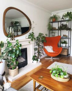 Big Indoor Plants, New View, Funky Furniture, Mid Century Furniture, Soft Furnishings, New Homes, Design Inspiration, House Design, Interior Design