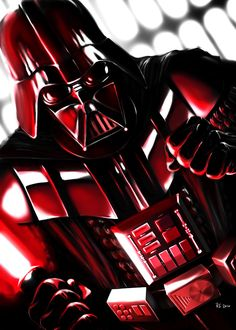 Darth Vader - seeing red by rhymesyndicate.deviantart.com on @deviantART