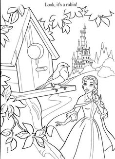 Belle Looks Its A Robin Coloring Pages
