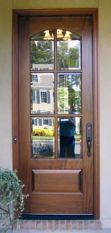 Craftsman style woodwork and screen doors on pinterest for Entry door with screen and glass