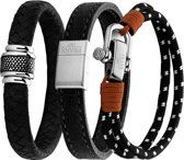 7FR Armbanden Set - 3 Stuks - Leer en - One-size Accessories, Fashion, Moda, Fashion Styles, Fashion Illustrations, Fashion Models, Ornament
