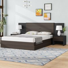 32 Gorgeous Bedroom Sets You Definitely Like - A bed is basically used for sleeping and sometimes for relaxing, working, exercising and reading. There are many styles and types of bedroom sets avai. Wood Bed Design, Bedroom Bed Design, Bedroom Furniture Design, Bed Furniture, Bedroom Sets, Bedroom Decor, Master Bedroom, Single Bedroom, Bedroom Black