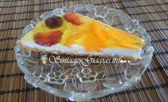 Τάρτα με Ροδάκινο και Φρούτα Εποχής Pudding, Desserts, Food, Pies, Flan, Postres, Puddings, Deserts, Hoods