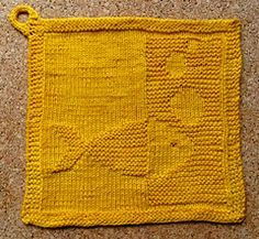 Fish Blubb dishcloth - free Ravelry download