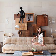 that sofa! Tobia Scarpa Kelly Wearstler - The Living Room from #InStyle
