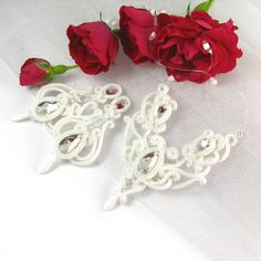 Hand embroidered bridal set www.pillowdesign.pl