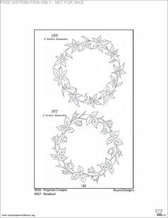 Ivy and rose bud border embroidery patterns