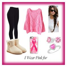"""""""Fight On 🎀"""" by jazzminmillwood on Polyvore featuring Bling Jewelry, Ice, UGG Australia, Casetify and IWearPinkFor"""